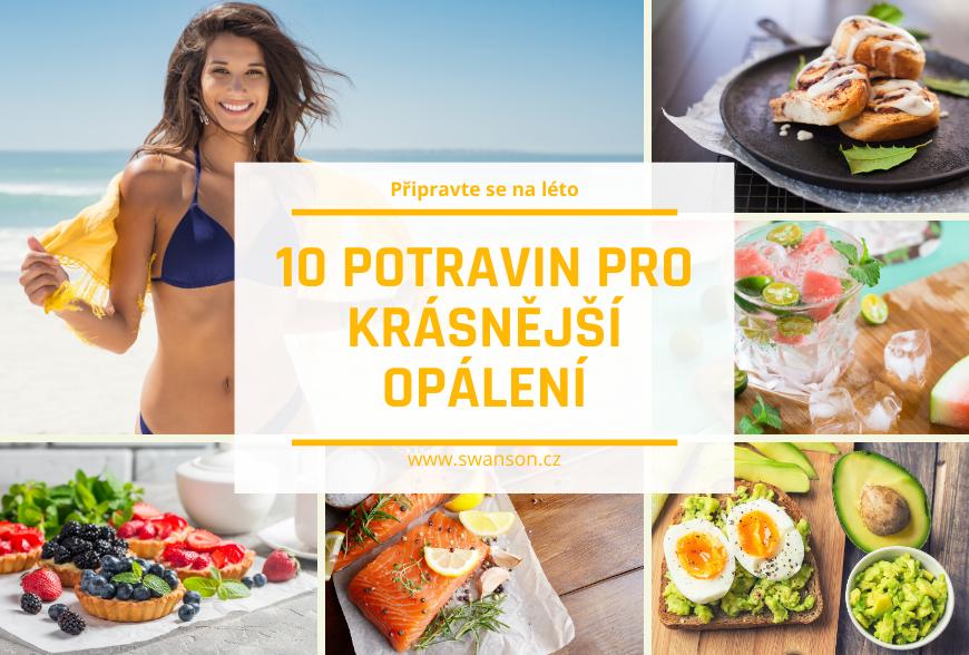 10 potravin pro zdravé opálení
